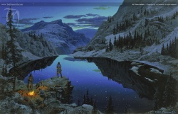 Ted Nasmith - At Tarn Aeluin.jpg