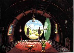 J.R.R. Tolkien - The Hall at Bag-End, Residence of B. Baggins Esquire (Colored by H.E. Riddett).jpg