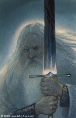 John Howe - Gandalf the White 01.JPG