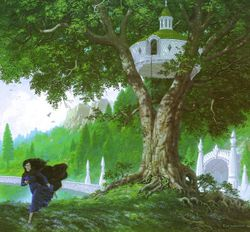 Ted Nasmith - Lúthien Escapes the Treehouse.jpg