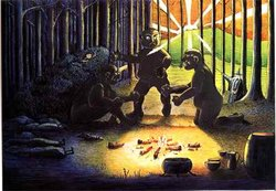 J.R.R. Tolkien - The Three Trolls are turned to Stone (Colored by H.E. Riddett).jpg